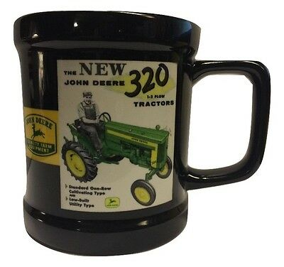 Official 2006 John Deere —Tractor Ad— Black Coffee Cup/mug —Excellent!—By Encore