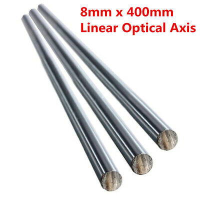 OD 8mm x 400mm Bearing Steel Cylinder Liner Rail Optical Axis Linear Shaft Rod