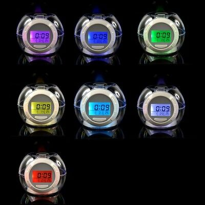 Sky Tech Fashion Alarm Clock with 6 Natural Sounds 7 Color Changing LED Light