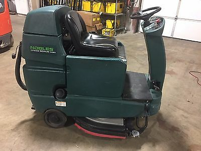 "Tennant/Noble SSR Speed Scrub Rider 32"" Floor Scrubber new batteries and brushes"