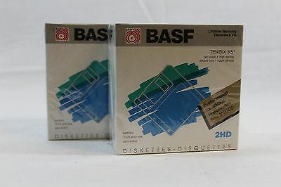 BASF 2DD Floppy Disk 3.5 inch 2 Sided Double Density Sealed box of 10 Diskettes