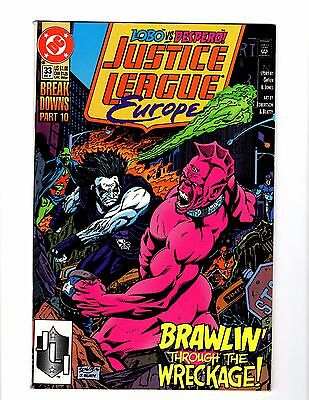 Justice League Europe 33, LOBO, First Sonic the Hedgehog in comics?! F/VF book!
