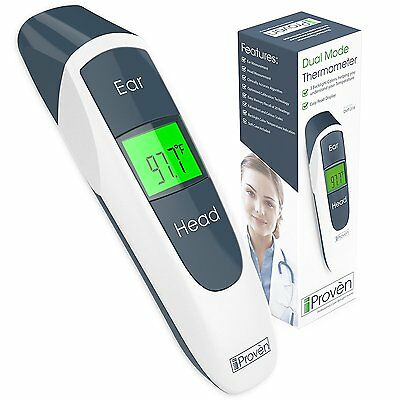 Digital Ear Thermometer w/ Forehead Function - Better Accuracy, Medical, iProven
