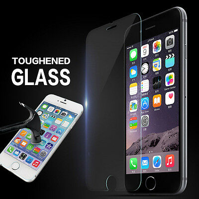 10 Pcs Premium Real Tempered Glass Screen Protector Film For iPhone 4 5 6 7 Plus