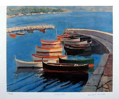 "Sir Winston Churchill ""A Study Of Boats"" - Lithograph, Limited Edition 150, Coa"