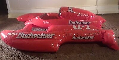 1996 MISS BUDWEISER THUNDERBOAT U-1 BLOW UP INFLATABLE RED BLUE Man Cave Bar
