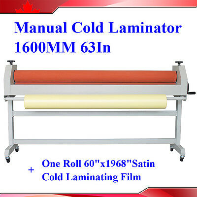 Stand Manual Style Soft Rubber Roll Cold Laminating Machine 63In 1600MM New