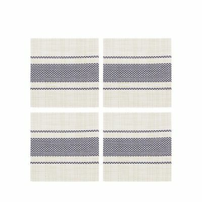 Home Collection Set Of Four Navy Striped Print Coasters From Debenhams