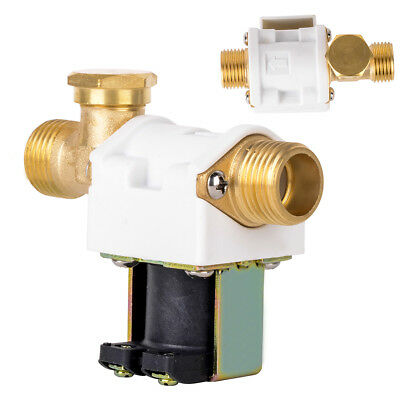 """DC12V 250mA 1/2"""" Brass Electric Solenoid Valve for Water Air N/C Normally Closed"""