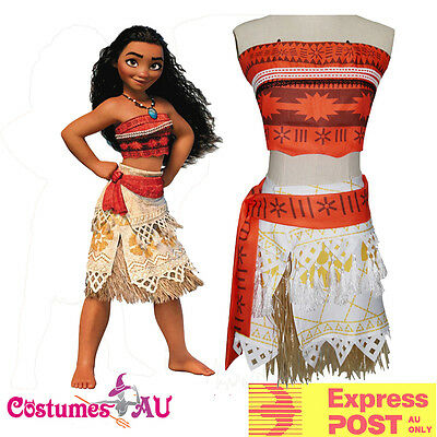 Moana Polynesia Princess Dress Girls Child Kids BookWeek Hawaiian Costume Fancy