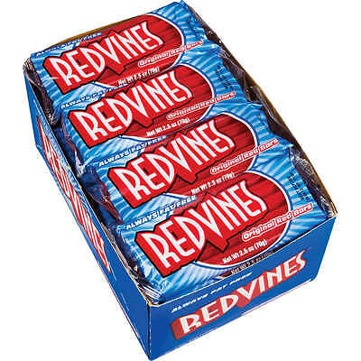 Red Vines Red Licorice Whips, Original, 2.5 oz, 24 ct