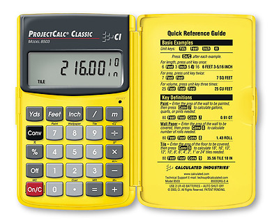 Calculated Industries ProjectCalc Classic Model 8503, New, Free Shipping