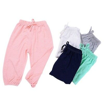 Kids Baby Harem Pants Bloomers Cotton Soft Anti-mosquito Sleep Trousers 1-6Y AU
