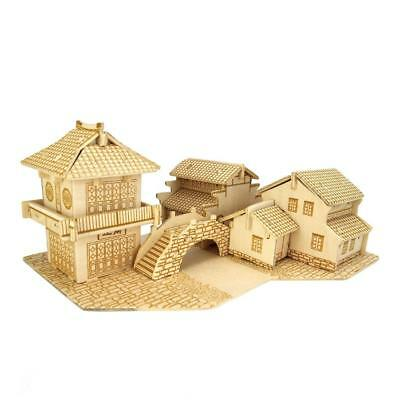 DIY Assembly Jiangnan Water Towns 3D Wooden Modelling Kit Model Puzzles Toys