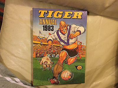 Tiger Annual 1983 Sports Book With Quizzes Cartoons Etc