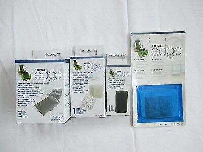 Fluval Edge Replacement Filter Media - Biomax, Foam, 3xCarbon, Algae Clear