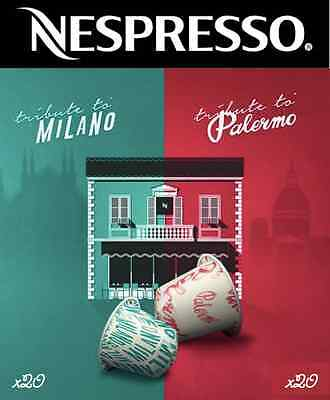 Tribute To Milano & Palermo Limited Edition Nespresso Coffee *40 Capsules Total*