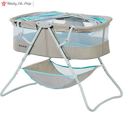 Dream on Me Karley Bassinet Blue and Gray NEW FREE SHIPPING