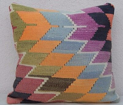Oriental Kilim Pillow Bohemian Cushion Cover Old Pillows Sofa Art 20 x 20""
