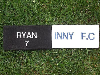 Personalised Football Shin Pad Supports / Holders / Ties / Stays ~2 Inch Elastic