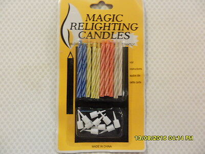 3 Pack Magic Candles Relighting Birthday Cake Party Trick Novelty Fun Trick Gag
