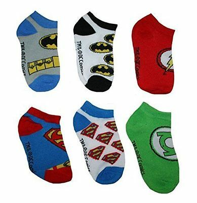 New Toddler Boys Justice League 6 Pack Low Cut Socks Size 2T-4T
