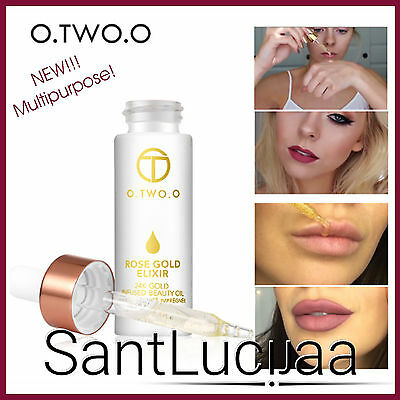 O.TWO.O 24k Rose Gold Elixir Skin Make Up Oil Face Essential Primer Foundation