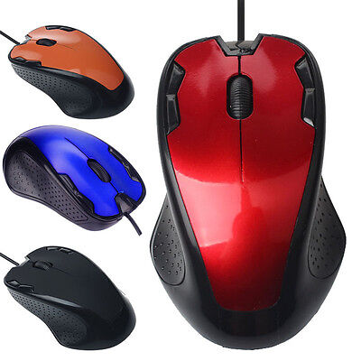 Luxury 1800 DPI USB Wired Gaming Mouse Gamer Opitical Ergonomics Computer Mice