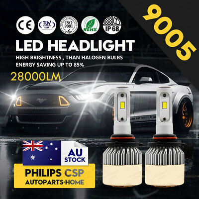 HB3 9005 252W Bulbs 6000K White 28000LM LED Headlight Kit High Beam Globes AU