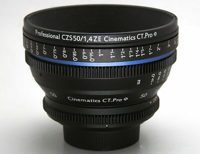 Cinematics cine lens Zeiss ZE 50mm T1.5 Canon EF mount for SONY A7S RED RAVEN 5D