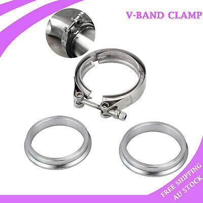 """3.0"""" inch 76mm V-Band Vband Clamp Stainless Steel flange turbo exhaust downpipe"""