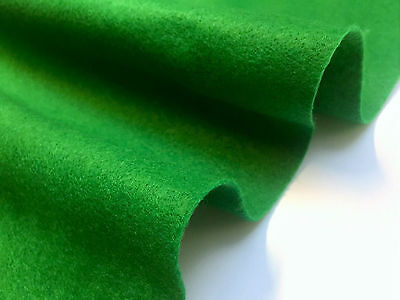 BRIGHT EMERALD GREEN FELT BAIZE FABRIC For Poker/Card Tables  60 inches Wide!