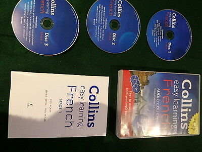 Collins Easy Learning  To Speak French Practical Portable 3 Cd Audio  Course Set