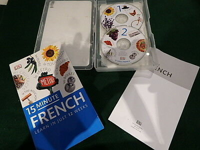 Dk 15 Minute Frenchlessons - Learn To Speak French In 12 Weeks Book & 2 Cd Audio