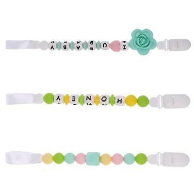 Baby Kids Dummy Pacifier Soother Nipple Leash Strap Chain Clip Holders