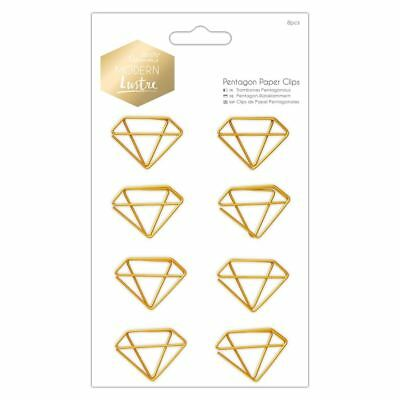 Docrafts Modern Lustre Papermania Craft Collection - Pentagon Paper Clips (8pcs)