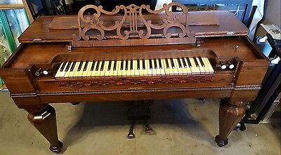 EARLY 1800's ANTIQUE ROSEWOOD MELODEON IN GREAT CONDITION