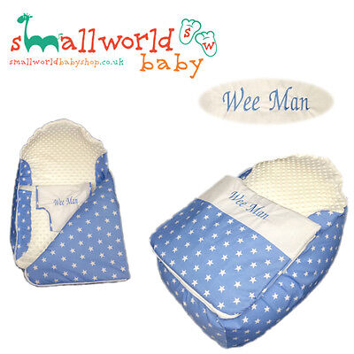 Personalised Boys Blue Star Baby Bean Bag Sleep Pod (NEXT DAY DISPATCH)