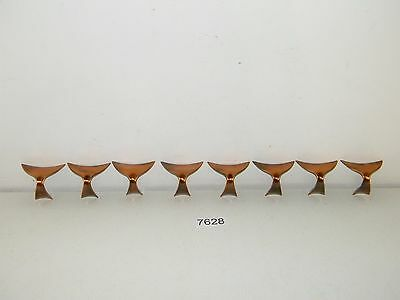 8 Vintage Mid Century Drawer Pulls Cabinet Handles Copper Hardware New Old Stock