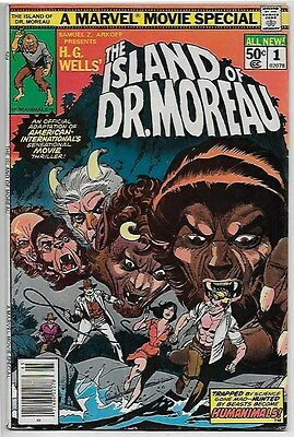 The Island of Dr. Moreau #1 lot of 2 books (1977, Marvel)
