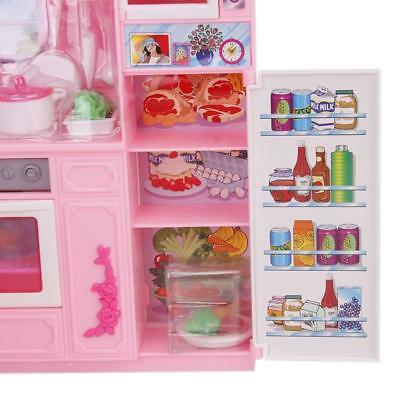 Plastic Kitchen Bathroom Furniture Play Set for Dolls House Accs Kids Toy