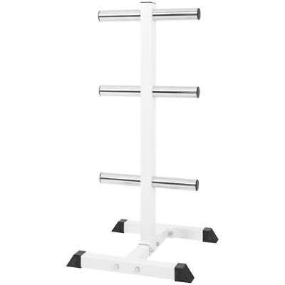 Gorilla Sports Olympic Weight Plate Rack 3 Branches
