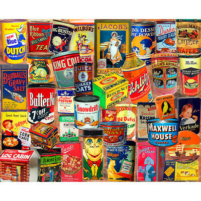 "Jigsaw Puzzle 1000 Pieces 24""X30"" Vintage Tins WM1173"