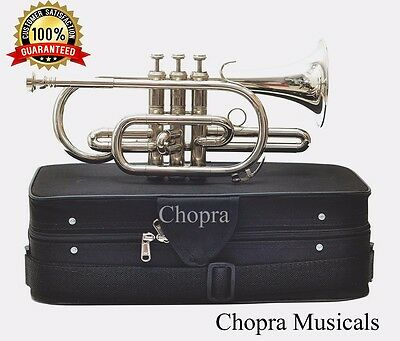 Classic Cornet Professional 3V with Hard Case+Mouth Piece Free
