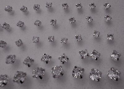 100pcs Mix Lot Crystal Clear Glass Rhinestones Sewing Silver Claw Strass 4-6-7mm