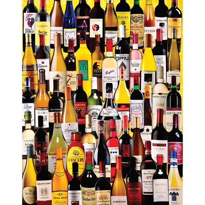 "Jigsaw Puzzle 1000 Pieces 24""X30"" Wine Bottles WM1058"