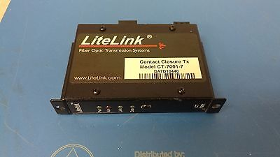 LiteLink (Liteway) CT-7001-7 1 CH TX 1310nm Contact Closure USED working