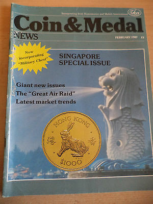 OLD VINTAGE 1980s COIN AND MEDAL NEWS MAGAZINE COLLECTORS MILITARY CHEST 1987
