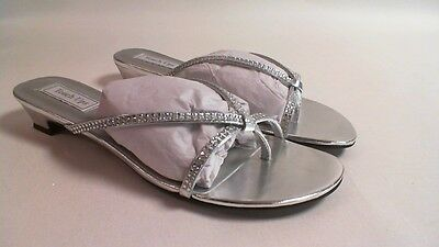 NEW: Touch Ups Wedding/ Evening Shoes - Silver - Ashley - US 12 W UK 10 #15R392