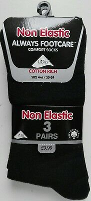 12 Pairs Boys Kids Cotton Rich Black School Socks 4-6
